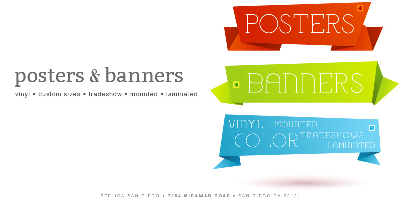 Banners Posters Vinyl - Replica Printing - San Diego - Copy