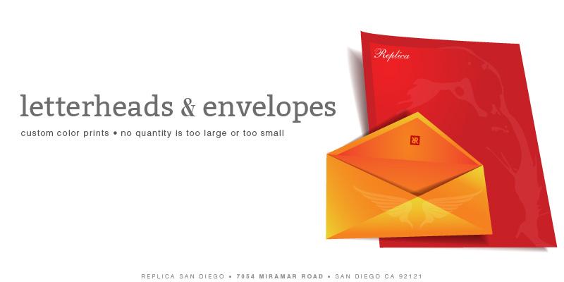 Replica Printing _ Letterheads & Envelopes - Replica Printing - San Diego - Copy